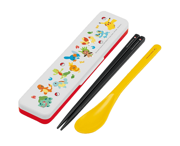 Pokemon Chopsticks Spoon And Case Set