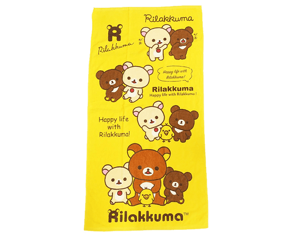 Rilakkuma Yellow Beach Towel