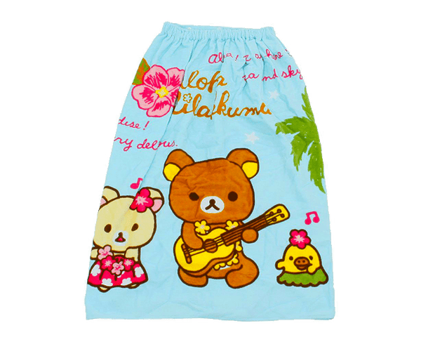Rilakkuma Kids Towel Skirt (Aloha)
