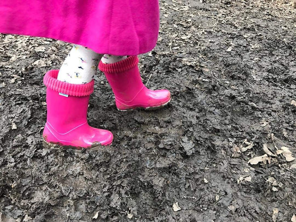 Term Wellies Pink & Grey