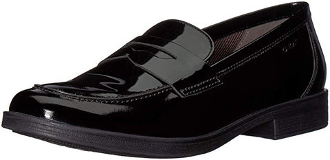 Geox Agata Black Patent Girls Loafers
