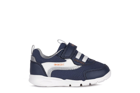 Geox Runner Trainer - Navy & White