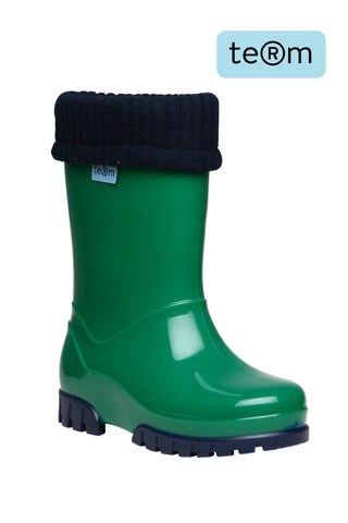 Term Wellies Green & Navy