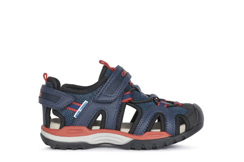 Geox Borealis Activity Sandal Navy & Red
