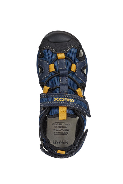 Geox Borealis Activity Sandal Navy & Gold