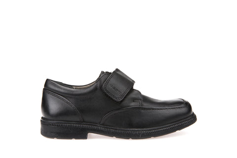 Geox Federico Boys Black Leather School Shoe