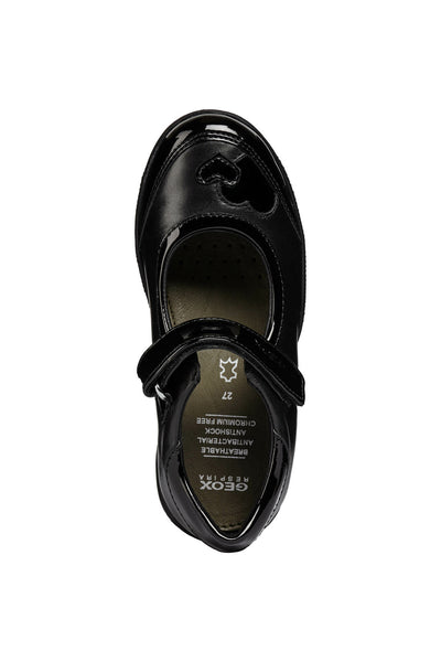 Geox New Shadow Patent and Leather Girls School Shoe