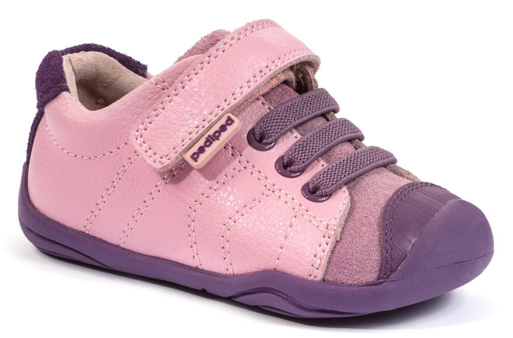 Pediped Jake Girls Pink Leather & Suede Shoe