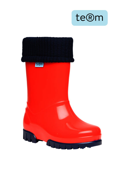 Term Wellies Red & Navy