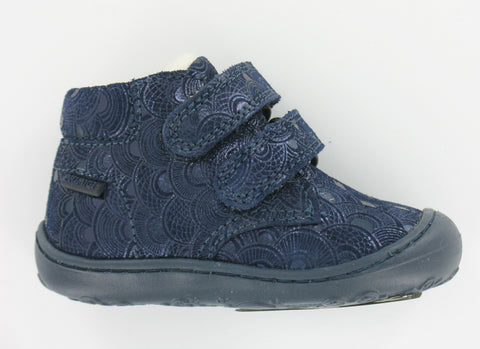 Primigi Navy Leather Wool Lined Ankle Boot