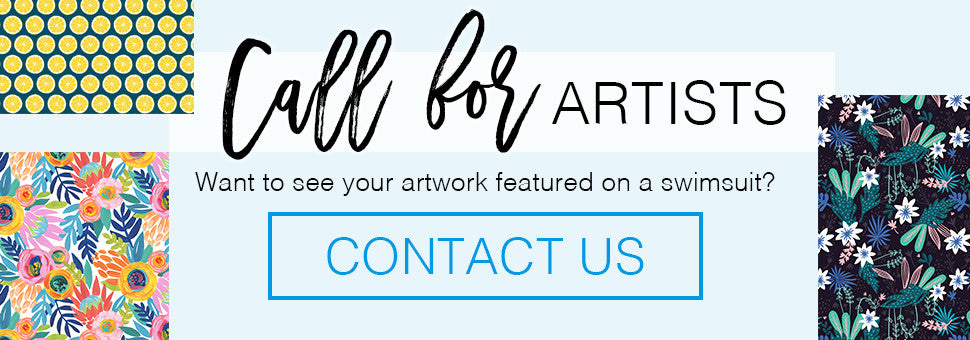 Call for artists. See your artwork featured on a swimsuit.