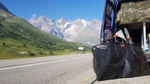 Bicycle Protection in your van, Cycling in the Alps, Van Life