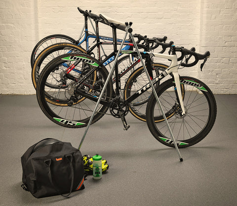 Bicycle Stand, Rail Sleeve and Stand Bag