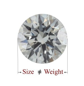 DIAMOND SIZE VS WEIGHT