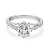 1.2ct round cut clear topaz 0.1ct natural diamonds 14k white gold engagement ring