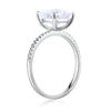 2.5ct cushion cut topaz 0.12ct natural diamond accents 14k white gold engagement ring side
