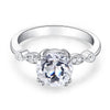 2ct round cut topaz 0.07 natural diamond accents 14k white gold engagement ring2