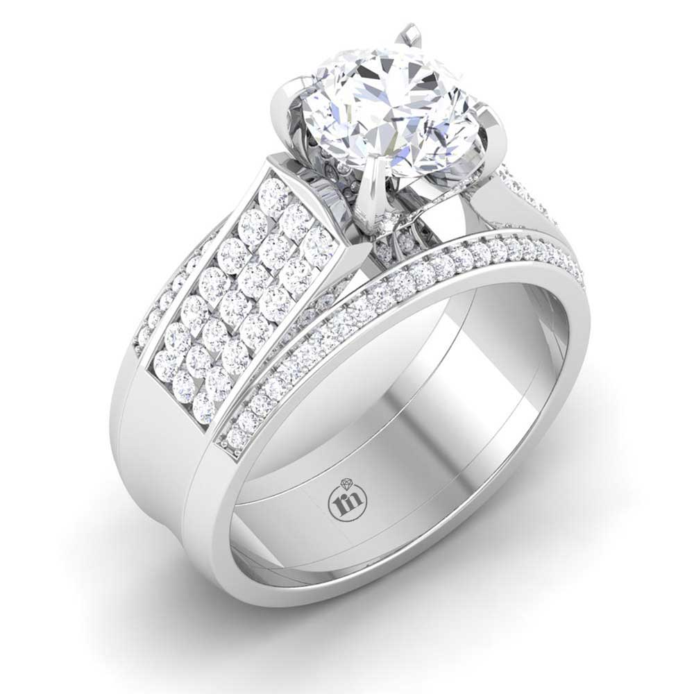 diamond ring wide princess band rings b thick r product solitaire w lucida cut engagement