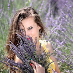 Lavender and Beautiful Woman