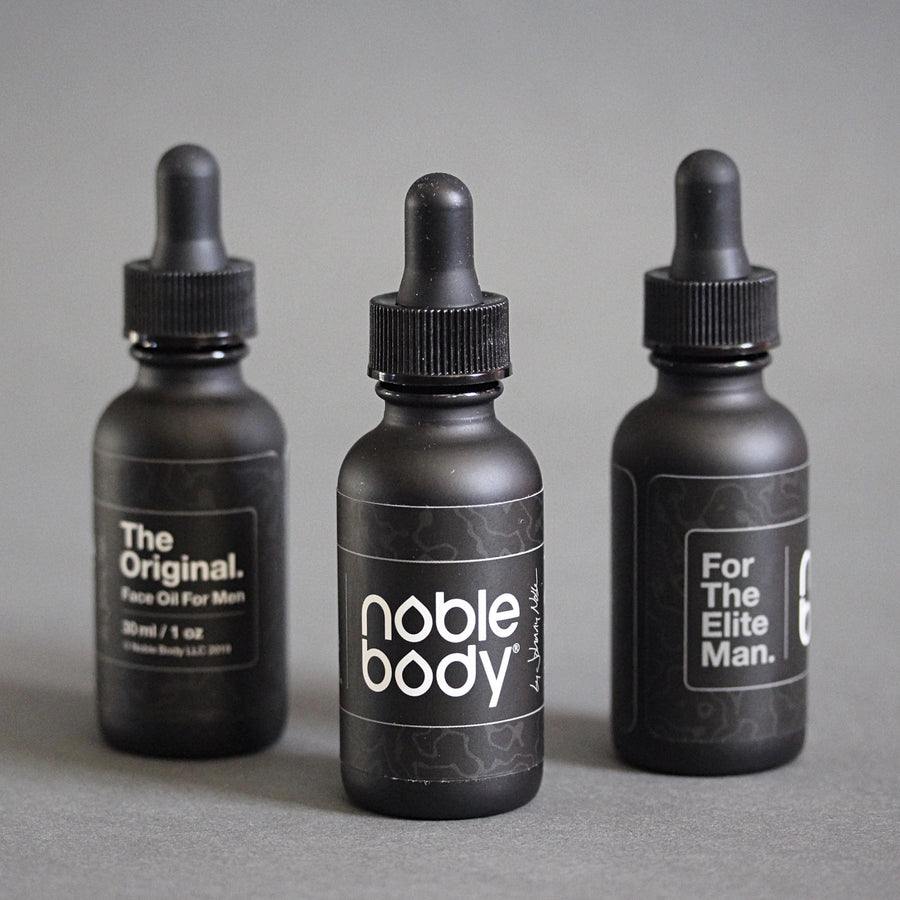 The Original. Noble Body Face Oil for Men. The first true face oil formula for Men on Earth.