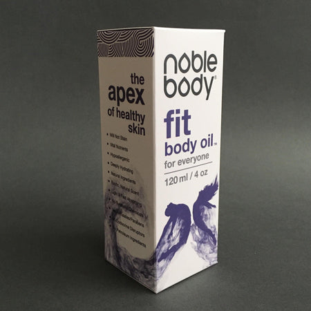 The Apex of Healthy Skin. Noble Body Fit Body Oil. Healthy and vibrant skin is a Superpower!