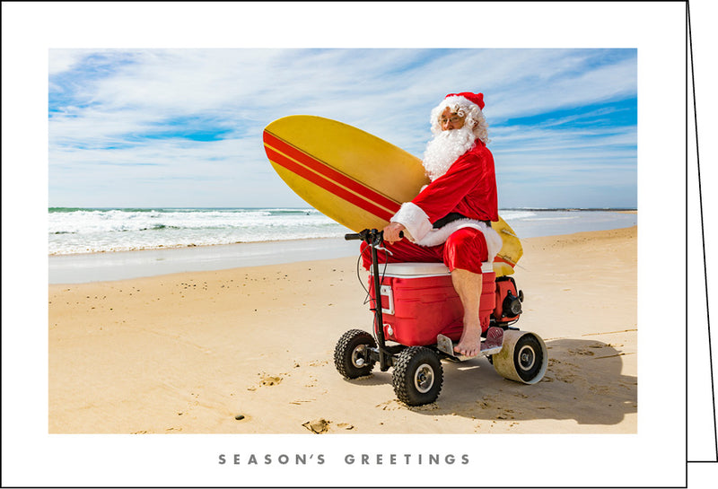 NZ905 Surfing Santa