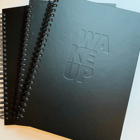 WAKEUP Hardcover Spiral Notebook - The WAKEUP Company