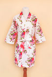 Adult floral robe on bodyform