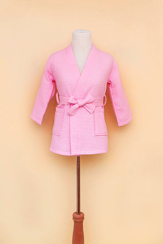 Light pink youth robe on bodyform