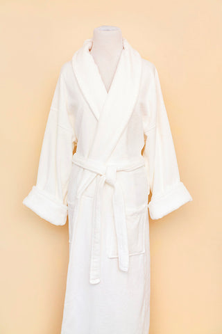 White Turkish robe on bodyform