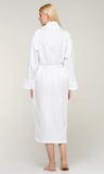 100% Turkish Cotton White Waffle with Velour Shawl Robe