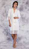 Ultra Soft Bamboo Lace Robe