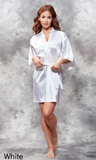 White satin robe.
