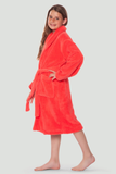 Coral youth microfleece plush robe.