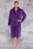 Microfleece robe in royal purple.