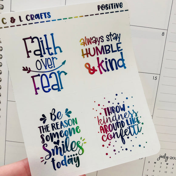 Positive Quote overlay