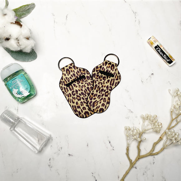 Leopard Print Lip Balm and Hand Sanitizer Holders