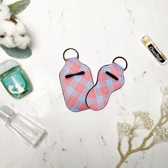 Pink Plaid Lip Balm and Hand Sanitizer Holders