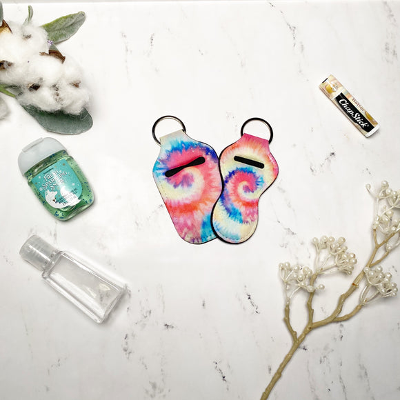 Tie Dye Lip Balm and Hand Sanitizer Holders