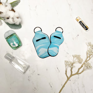 Blue Watercolor Lip Balm and Hand Sanitizer Holders