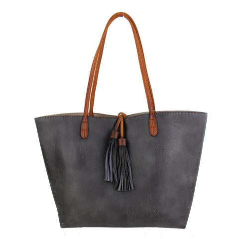 Medium Tote with Contrast Straps by Street Level