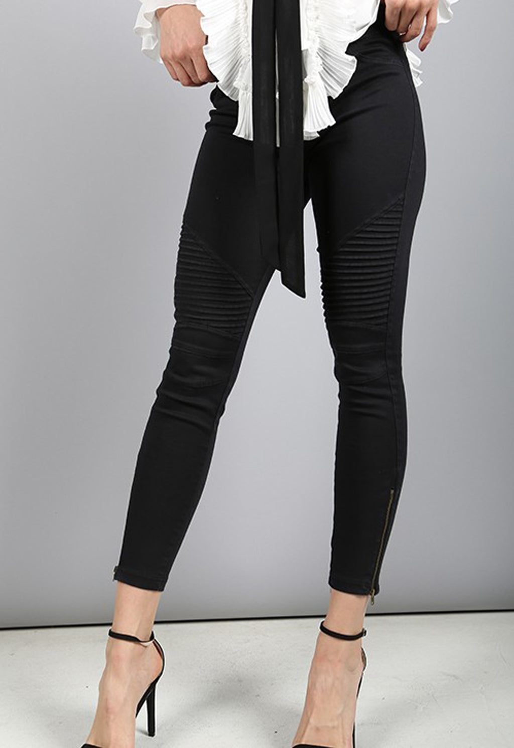 Moto Jegging by Beulah in Black