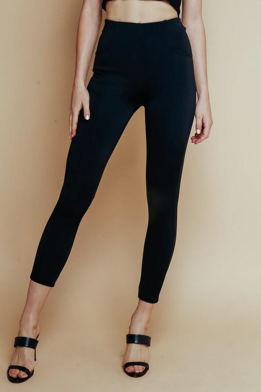 High waist pull on nylon leggings by olivaceous