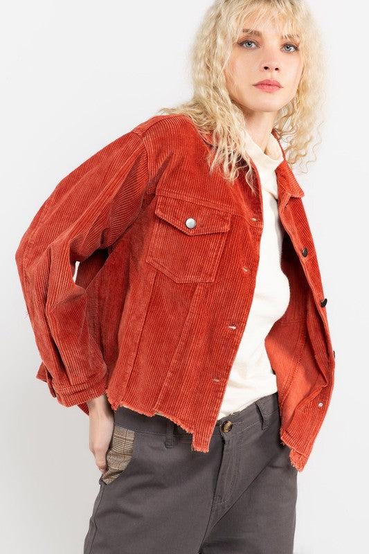 CORDUROY JACKET color ginger by POL