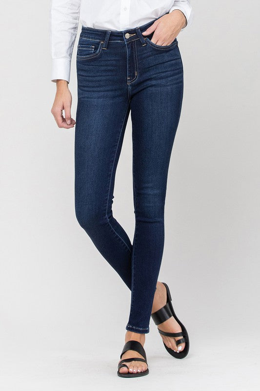 MID RISE ANKLE SKINNY JEANS, NON-DISTRESSED
