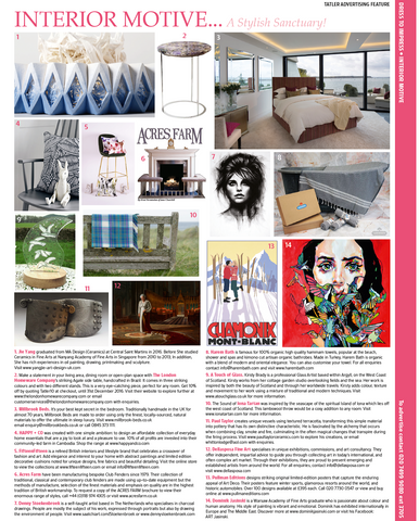 tatler uk, fifteenfifteen, luxury brand, interior design, velvet cushions, home decor, how to style your home, designer cushions