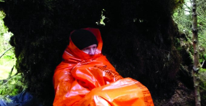 BCB High Viz Emergency Sleeping Bag with Printed Survival Instructions