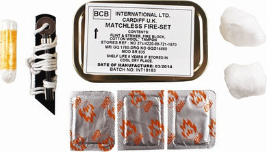 BCB Matchless Fire Set - Alpha Bushcraft
