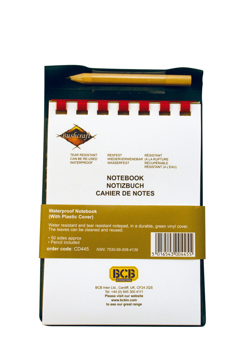 BCB Waterproof Notebook