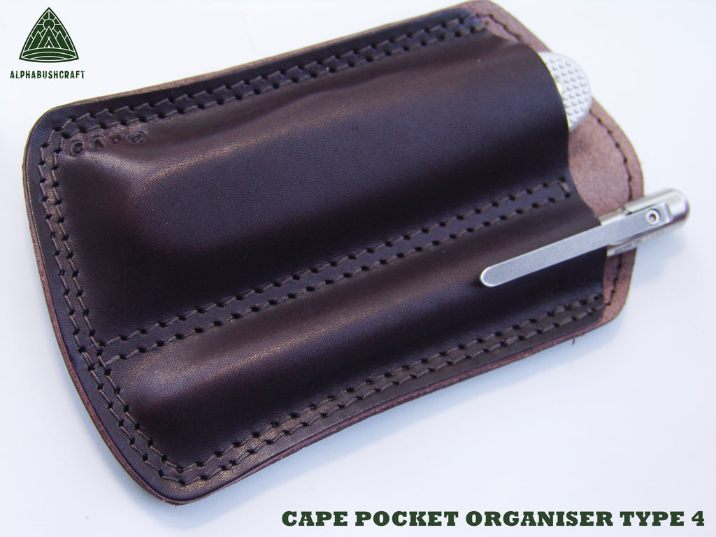 CAPE Pocket Organiser Type 4 in Vintage Brown Leather